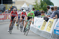 Sep Vanmarcke (BEL/Belkin) &amp; Stig Broeckx (BEL/Lotto-Belisol) in the breakaway with 3 more laps to go<br /> <br /> Belgian Championships 2014 - Wielsbeke<br /> Elite Men