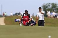 Xander Schauffele (USA) on the 6th green during Friday's Round 2 of the 117th U.S. Open Championship 2017 held at Erin Hills, Erin, Wisconsin, USA. 16th June 2017.<br /> Picture: Eoin Clarke | Golffile<br /> <br /> <br /> All photos usage must carry mandatory copyright credit (&copy; Golffile | Eoin Clarke)