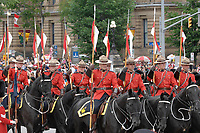 Ottawa (ON) CANADA, July 1st, 2007 -<br /> <br /> The<br /> <br /> Royal Canadian Mounted Police (RCMP)<br /> parade near the Parliament during<br /> Canada day celebration in the national capital.<br /> photo : (c)  Michel Karpoff - Images Distribution