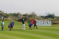 Chris Wood (ENG) during the second round of the NBO Open played at Al Mouj Golf, Muscat, Sultanate of Oman. <br /> 16/02/2018.<br /> Picture: Golffile | Phil Inglis<br /> <br /> <br /> All photo usage must carry mandatory copyright credit (&copy; Golffile | Phil Inglis)