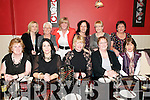Lixnaw Gals: Celebrating a belated  Women's Christmas at Fitzgerald's Restaurant, Listowel on Saturday night last were Lixnaw Gals Margaret Heffernam, Marguerite Rid, Marie Sheehy, Patricia Heffernan & Lucey Silles in front. Back: Patsy McNamara, Marie Conway, Mandy Gilbert, Joan Silles, June O'Connor & Catherine Allen.