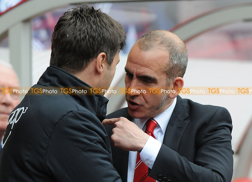 Sunderland manager Paolo Di Canio and Southampton Manager Mauricio Pochettino before kick off - Sunderland vs Southampton - Barclays Premier League Football at The Stadium of Light, Sunderland, Tyne & Wear - 12/05/13 - MANDATORY CREDIT: Steven White/TGSPHOTO - Self billing applies where appropriate - 0845 094 6026 - contact@tgsphoto.co.uk - NO UNPAID USE