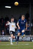 7th March 2020; Somerset Park, Ayr, South Ayrshire, Scotland; Scottish Championship Football, Ayr United versus Dundee FC; Christophe Berra of Dundee clears from Alan Forrest of Ayr United