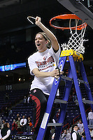 31 March 2008: Michelle Harrison during Stanford's 98-87 win over the University of Maryland in the elite eight game of the NCAA Division 1 Women's Basketball Championship in Spokane, WA.