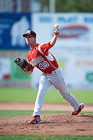 Batavia Muckdogs pitcher Tyler Melling #49 during game one of a NY-Penn League doubleheader against the Jamestown Jammers at Russell Diethrick Park on September 5, 2012 in Jamestown, New York.  Jamestown defeated Batavia 1-0.  (Mike Janes/Four Seam Images)