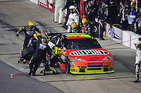 May 2, 2009; Richmond, VA, USA; NASCAR Sprint Cup Series driver Jeff Gordon pits during the Russ Friedman 400 at the Richmond International Raceway. Mandatory Credit: Mark J. Rebilas-