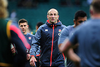 England Fowards Coach Steve Borthwick looks on during the pre-match warm-up. Old Mutual Wealth Series International match between England and South Africa on November 12, 2016 at Twickenham Stadium in London, England. Photo by: Patrick Khachfe / Onside Images