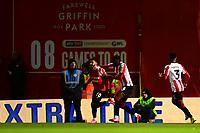 Brentford's Said Benrahma celebrates scoring his side's first goal <br /> <br /> Photographer Richard Martin-Roberts /CameraSport<br /> <br /> The EFL Sky Bet Championship - Brentford v Leeds United - Tuesday 11th February 2020 - Griffin Park - Brentford<br /> <br /> World Copyright © 2020 CameraSport. All rights reserved. 43 Linden Ave. Countesthorpe. Leicester. England. LE8 5PG - Tel: +44 (0) 116 277 4147 - admin@camerasport.com - www.camerasport.com