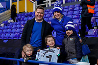 4th January 2020; St Andrews, Birmingham, Midlands, England; English FA Cup Football, Birmingham City versus Blackburn Rovers; A family are happy when Adam Armstrong of Blackburn Rovers gives his shirt to the young boy - Strictly Editorial Use Only. No use with unauthorized audio, video, data, fixture lists, club/league logos or 'live' services. Online in-match use limited to 120 images, no video emulation. No use in betting, games or single club/league/player publications