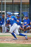 Toronto Blue Jays Deiferson Barreto (6) during an instructional league game against the Philadelphia Phillies on September 28, 2015 at the Englebert Complex in Dunedin, Florida.  (Mike Janes/Four Seam Images)