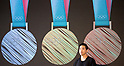 2018 PyeongChang Winter Olympic medals shown at unveiling ceremony in Seoul
