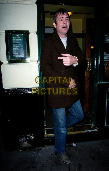"NEIL MORISSEY.""Guys & Dolls"" VIP Performance, Picadilly Theatre, London, UK..January 24th, 2007.full length Morrissey black brown jacket coat jeans denim pointing.CAP/CAN.©Can Nguyen/Capital Pictures"