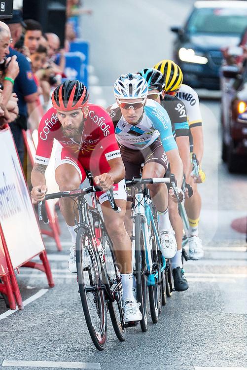 Chetout, Kennaaugh, Jauregui and Bouwman during La Vuelta a España 2016 in Madrid. September 11, Spain. 2016. (ALTERPHOTOS/BorjaB.Hojas)