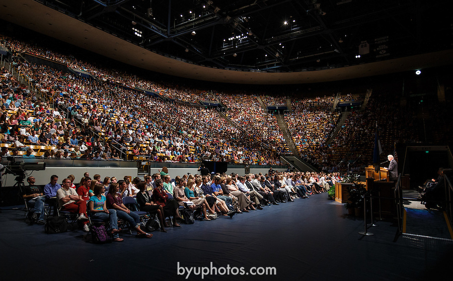 1209-15 044<br /> <br /> 1209-15 Elder Steven E. Snow Devotional. Student Audience in Marriott Center, Listening.<br />  <br /> Photo by Jaren Wilkey/BYU<br /> <br /> September 11, 2012<br /> <br /> &copy; BYU PHOTO 2012<br /> All Rights Reserved<br /> photo@byu.edu  (801)422-7322