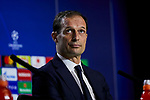 Juventus' coach Massimiliano Allegri during the Press Conference before UEFA Champions League match between Atletico de Madrid and Juventus at Wanda Metropolitano Stadium in Madrid, Spain. February 19, 2019. (ALTERPHOTOS/A. Perez Meca)