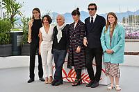 "CANNES, FRANCE. May 18, 2019: Felix Von Boehm, Montse Triola, Marc Susini, Laura Poulvet, Albert Serra & Iliana Zabeth  at the photocall for the ""Liberte"" at the 72nd Festival de Cannes.<br /> Picture: Paul Smith / Featureflash"