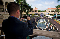 HALLANDALE BEACH, FL - JANUARY 27: A spectator takes a photo of the paddock on Pegasus World Cup Invitational Day at Gulfstream Park Race Track on January 27, 2018 in Hallandale Beach, Florida. (Photo by Scott Serio/Eclipse Sportswire/Getty Images)
