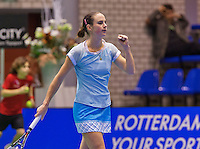 December 20, 2014, Rotterdam, Topsport Centrum, Lotto NK Tennis, Woman's semifinal,  Bibianne Weijers(NED) jubilates her victory over Lemoine<br /> Photo: Tennisimages/Henk Koster