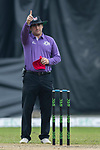 Field umpire Zubair Nizami reacts during the DTC Hong Kong T20 Blitz match between HKI United vs City Kaitak on 12 March 2017, in Tin Kwong Road Recreation Ground, Hong Kong, China. Photo by Chris Wong / Power Sport Images