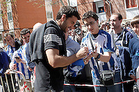 Rayo Vallecano's Xabi Prieto and Real Sociedad's during La Liga match.April 14,2013. (ALTERPHOTOS/Acero)