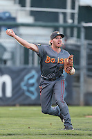Jesse Hodges #19 of the Boise Hawks during a game against the Everett AquaSox at Everett Memorial Stadium on July 25, 2014 in Everett, Washington. Everett defeated Boise, 2-1. (Larry Goren/Four Seam Images)