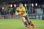 NELSON, NEW ZEALAND - MAY 29: Julian Savea of the Hurricanes beats a tackle in round 16 Super Rugby match between the Crusaders and the Hurricanes at Trafalgar Park on May 29, 2015 in Nelson, New Zealand.. (Photo Barry Whitnall/Shuttersport Limited