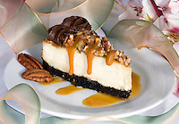 Pecan Cheesecake with Chocolate Icin