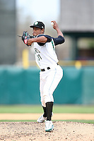 April 11 2010: Hector Garcia of the Kane County Cougars at Elfstrom Stadium in Geneva, IL. The Cougars are the Low A affiliate of the Oakland A's. Photo by: Chris Proctor/Four Seam Images