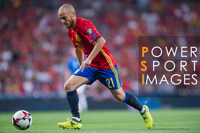 David Silva of Spain during their 2018 FIFA World Cup Russia Final Qualification Round 1 Group G match between Spain and Italy on 02 September 2017, at Santiago Bernabeu Stadium, in Madrid, Spain. Photo by Diego Gonzalez / Power Sport Images