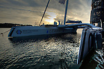 The MOD70 Race for Water, the first of the new series of oceanic one-design multihulls, christened  by French actress Anne Richard in Lorient.