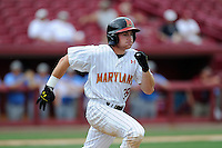 Left fielder Tim Lewis (39) of the Maryland Terrapins in an NCAA Division I Baseball Regional Tournament game against the Old Dominion Monarchs on Friday, May 30, 2014, at Carolina Stadium in Columbia, South Carolina. Maryland won, 4-3. (Tom Priddy/Four Seam Images)