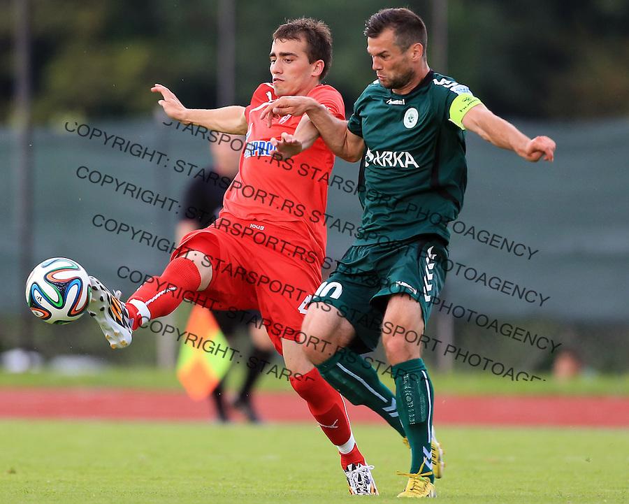 Fudbal season 2013-2014<br /> FK Crvena Zvezda pripreme<br /> Crvena Zvezda v Krka<br /> Head coach Nenad Gavric (L)<br /> Novo Mesto, 07.12.2014.<br /> foto: Srdjan Stevanovic/Starsportphoto &copy;