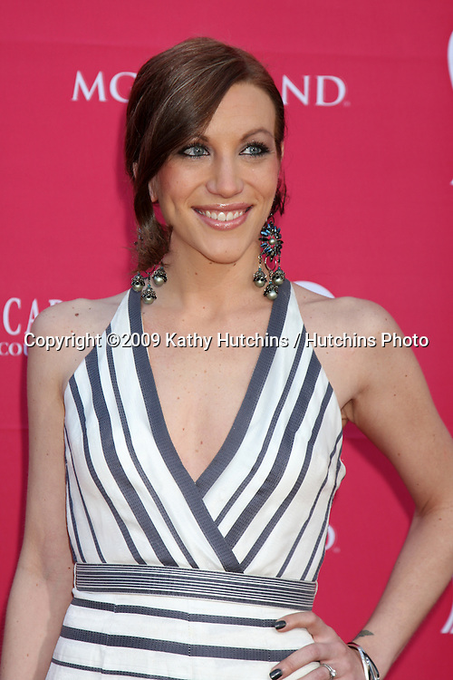 Jessica Harp arriving at the 44th Academy of Country Music Awards at the MGM Grand Arena in  Las Vegas, NV on April 5, 2009.©2009 Kathy Hutchins / Hutchins Photo....                .