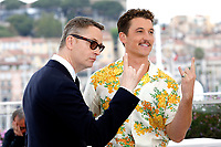 Nicolas Winding Refn and Miles Teller at the 'Too Old to Die Young' photocall during the 72nd Cannes Film Festival at the Palais des Festivals on May 18, 2019 in Cannes, France