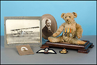 Squadron Leader Ted - British pilot's German mascot.