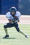 Torrance, CA 09/05/13 - Jack Grimes (Peninsula #4) in action during the Peninsula vs North Junior Varsity football game played at North High School in Torrance, California.