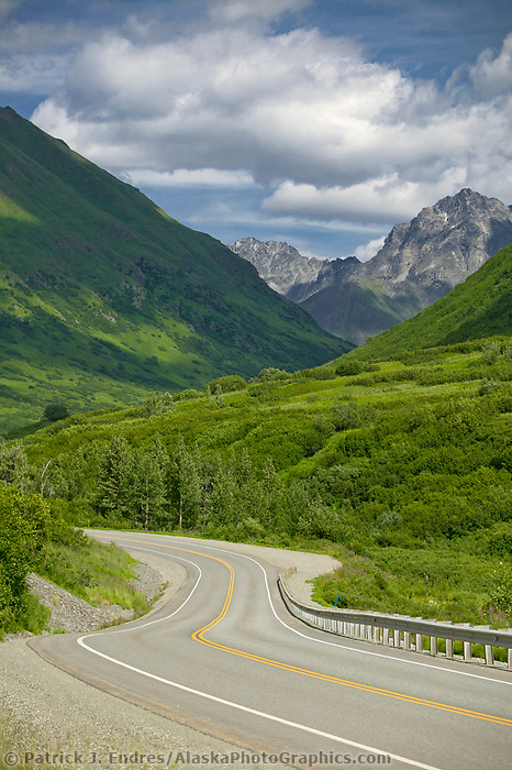 Road to Hatcher pass, southcentral, Alaska.