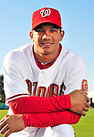 28 February 2010: Washington Nationals second baseman Alberto Gonzalez poses for his Spring Training photo at Space Coast Stadium in Viera, Florida. Mandatory Credit: Ed Wolfstein Photo