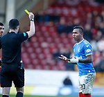 15.12.2019 Motherwell v Rangers: Alfredo Morelos shown a second yellow card by ref Don Robertson