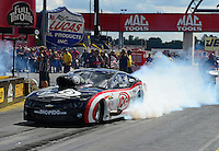 Sept 9, 2012; Clermont, IN, USA: NHRA pro mod driver Rickie Smith during the US Nationals at Lucas Oil Raceway. Mandatory Credit: Mark J. Rebilas-