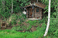 Miners cabin next to a stream, Fairbanks, Alaska