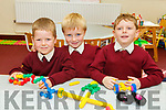 Matthew Smith, Andrew Daly and Tommy Jones first days in Junior infants in Knockaderry NS Farranfore