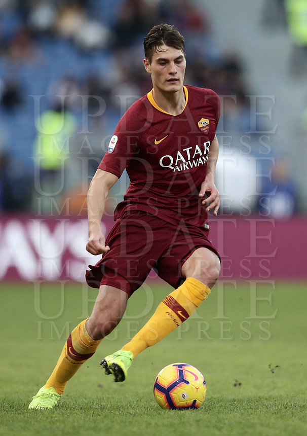 Football, Serie A: AS Roma - Sampdoria, Olympic stadium, Rome, November 11, 2018. <br /> Roma's Patrick Schick in action with during the Italian Serie A football match between Roma and Sampdoria at Rome's Olympic stadium, on November 11, 2018.<br /> UPDATE IMAGES PRESS/Isabella Bonotto