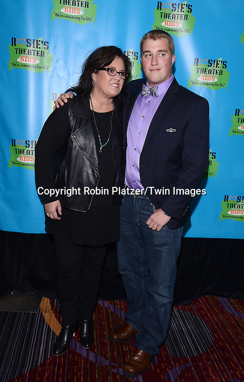 Rosie O'Donnell and son Parker  attend Rosie O'Donnell's 11th Annual Rosie's Theater Kids Gala on September 22, 2014 at The New York Marriott Marquis in New York City. <br /> <br /> photo by Robin Platzer/Twin Images<br />  <br /> phone number 212-935-0770