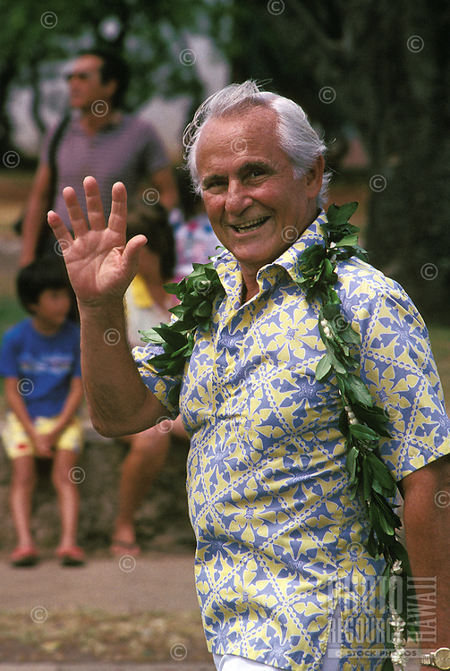 former Honolulu Mayor Frank Fasi  in the Aloha Festivals Parade