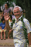 former Honolulu Mayor Frank Fasi  in the Aloha Festivals Parade