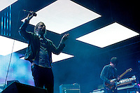 RadioHead at the 2012 Bonnaroo Music Festival in Manchester, Tennessee. June 9, 2012. Credit: Jen Maler / MediaPunch Inc. NORTEPHOTO.COM<br />