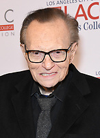 12 March 2019 - Beverly Hills, California - Larry King. Los Angeles Community College 2019 Gala held at Beverly Wilshire Hotel. Photo <br /> CAP/ADM/BT<br /> &copy;BT/ADM/Capital Pictures