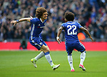 Chelsea's David Luiz celebrates his sides opening goal during the FA Cup Semi Final match at Wembley Stadium, London. Picture date: April 22nd, 2017. Pic credit should read: David Klein/Sportimage
