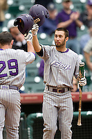 TCU Horned Frog CF Kyle VonTungelen against the Texas Tech Red Raiders on Friday March 5th, 2100 at the Astros College Classic in Houston's Minute Maid Park.  (Photo by Andrew Woolley / Four Seam Images)